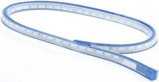 "COX 50 cm 20"" FLEXIBLE PLASTIC VINYL CURVE RULER DRAWING DRAFTING FRENCH CURVE"