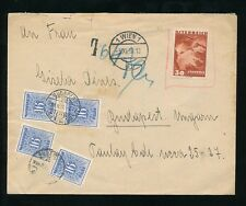 AUSTRIA 1938 ANSCHLUSS INVALID STAMP AIRMAIL + POSTAGE DUES HUNGARY