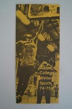 Vintage Basketball Media Press Guide Adrian College 1974 1975