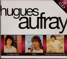 COFFRET 3 CD HUGUES AUFRAY RARE- LE ROSSIGNOL ANGLAIS, CELINE, MUSICORAMA 1969