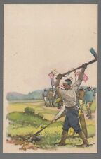 [23450] 1930's PROPAGANDA POSTCARD JAPANESE ARMY WORKERS FARMING IN CHINA