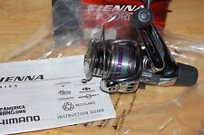 shimano sienna fishing reel spinning 2500rd sn-2500rd bass walleye mono or braid