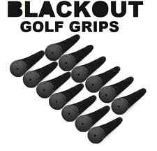 Set of 13 Black Out No Logo Pro Pride Tour Velvet Standard Golf Grips
