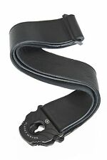 D'Addario - Planet Waves Guitar Strap  Planet Lock (Strap Lock)  Leather Black