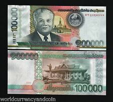 LAOS LAO 100000 100,000 KIP 2011 PRESIDENT PAGODA WORLD CURRENCY MONEY BANK NOTE
