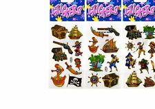 12 Packs of Pirate Stickers. Each Pack contains 9 stickers. Ideal For Party Bags