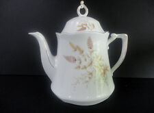 "Vintage Winterling Bavarian China 9"" TEA POT Schwarzenbach Brown Wheat GERMANY!"