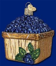 """Basket of Blueberries"" (28102) Old World Christmas Glass Ornament"