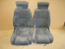 93-96 Firebird Trans Am Graphite Cloth Seat Seats Set 0317-1
