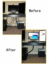 4 Neoprene Cable Cord Wire Cover Hider Sleeves for PC TV Home Office Management