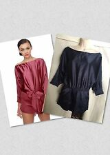 Rubber Ducky Navy Blue Romper Satin Dolman Size Small NWT (No Belt) Lulu's $79