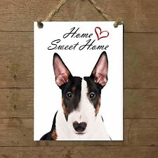 BULL TERRIER Home Sweet home mod2 Targa CANE piastrella ceramic tile dog