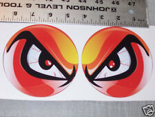 RED  NO FEAR EYES VINYL DECAL PAIR SHOTGUN AIR INTAKE HOOD SCOOP BUG CATCHER