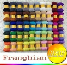 70 colors Merino Wool Fibre Roving For Needle Felting Hand Spinning W/ Foan free