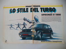 advertising Pubblicità 1985 RENAULT SUPER 5 GT TURBO