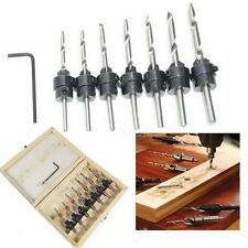 22Pc Tapered Drill & Countersink Bit Screw Set Wood Pilot Hole For Wood in US
