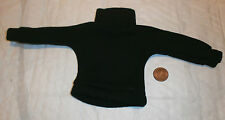 Vintage Action man / Geyper black jumper / polo neck 1/6th scale toy accessory