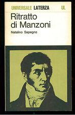 SAPEGNO NATALINO RITRATTO DI MANZONI LATERZA 1986 UNIVERSALE LATERZA 38