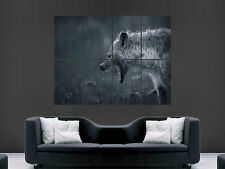 ANGRY HYENA TEETH GROWL NATURE  GIANT WALL POSTER ART PICTURE PRINT LARGE HUGE