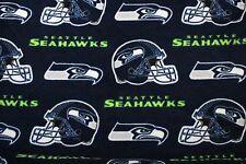 1-NFL SEATTLE SEAHAWKS PRINTED FLEECE STANDARD PILLOW CASE/ BLUE FLEECE BACK