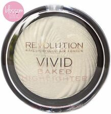 Makeup Revolution Vivid Baked Highlighter Shimmer Glow Face Powder Golden Lights
