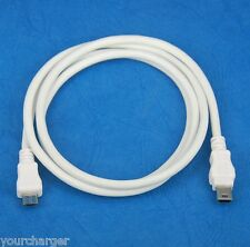 3ft 1M Micro USB Type B male to mini USB B male WHITE Host OTG Adapter Cable