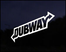 Dubway Euro Vag Car VW Decal Sticker Vehicle Bike Bumper Vinyl Graphic Audi