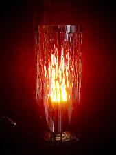 Pilar De La Llama Estufa Eléctricamente Lámpara De La Llama Acero Inox. 31cm