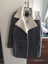 Zara Womens Coat With Fleecy Interior SIZE MEDIUM BRAND NEW