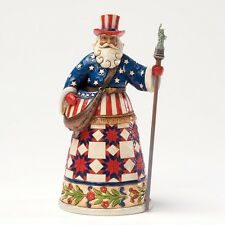 Jim Shore AMERICAN SANTA FIGURINE 4027704 Perfectly Festive In All Fifty States