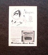 L759 - Advertising Pubblicità - 1960 - REMINGTON RAND MACCHINA DA SCRIVERE