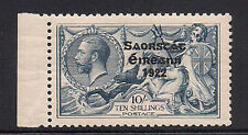 Ireland Stamp 1922 Seahorses 10s Gray-Blue (Sc 58) MNH $500