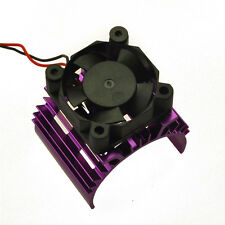 Alloy Heat Sink for 540 550 Motor DC 5V Cooler Fan for 1:10 RC Model Car Lila