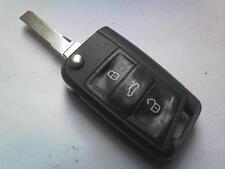 ORIGINALE VW VOLKSWAGEN SCIROCCO GOLF MK7 ETC 3 PULSANTE REMOTO Uncut Flip Key Fob