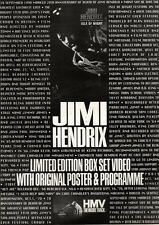 27/10/90 Pgn33 Advert: Jimi Hendrix at The Isle Of Wight Box Set Video 15x11