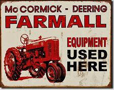 Farmall Vintage Tracteur Oldtimer Tracteur Rétro Design Plaque Décoration 778