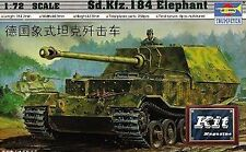 German Sd.Kfz.184 Elephant Panzer Tank Plastic Kit 1:72 Model 7204 TRUMPETER