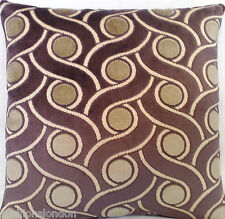 Taupe Cushion Cover Osborne & Little Velvet Fabric Papini Throw Pillow Case