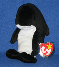 TY WAVES the ORCA WHALE BEANIE BABY with ECHO TAGS - ODDITY - MINT TAGS