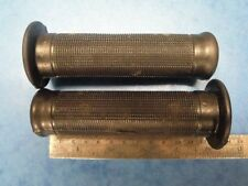 "AMAL TYPE HANDLEBAR RUBBER GRIPS 7/8""  AJS BSA TRIUMPH  ENFIELD MATCHLESS NORTON"