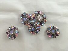 Vintage WEISS  Brooch Pin and Earrings