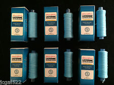 6 Listerine Mint Total Care 90 yd floss spool refill by Johnson & Johnson Bulk