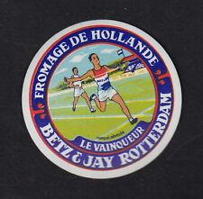 Ancienne  petite étiquette Fromage  Hollande BN10429 Sport Le Vainqueur