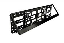 Easy Change Number Reg Plate Surround Holder Black Plastic Show Plates & Trailer