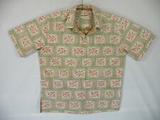 Aloha Shirt by Cooke Street, 100% reverse print Cotton, sz L