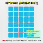 20pcs 3M 8810 Chipset Size 13x13mm Thermal Compound Adhesive Pads Cooler For Led