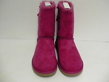 Women's ugg boots bailey bow red violet color sheepskin size 8 us