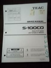 TEAC Service Manual for the S-1000 Hi-Fi Stereo System    mp