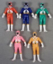 GoGoV FULL TEAM VINYL FIGURE SET OF 5 COMPLETE Bandai Japan Power Rangers