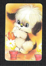 #915.033 Blank Back Swap Cards -MINT- Dog with watering can & a bee on its nose